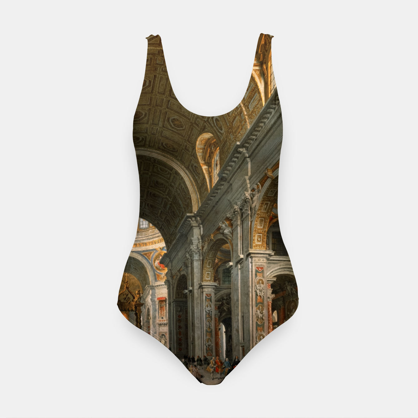 Image of Interior of St. Peter's, Rome byGiovanni Paolo Panini Swimsuit - Live Heroes