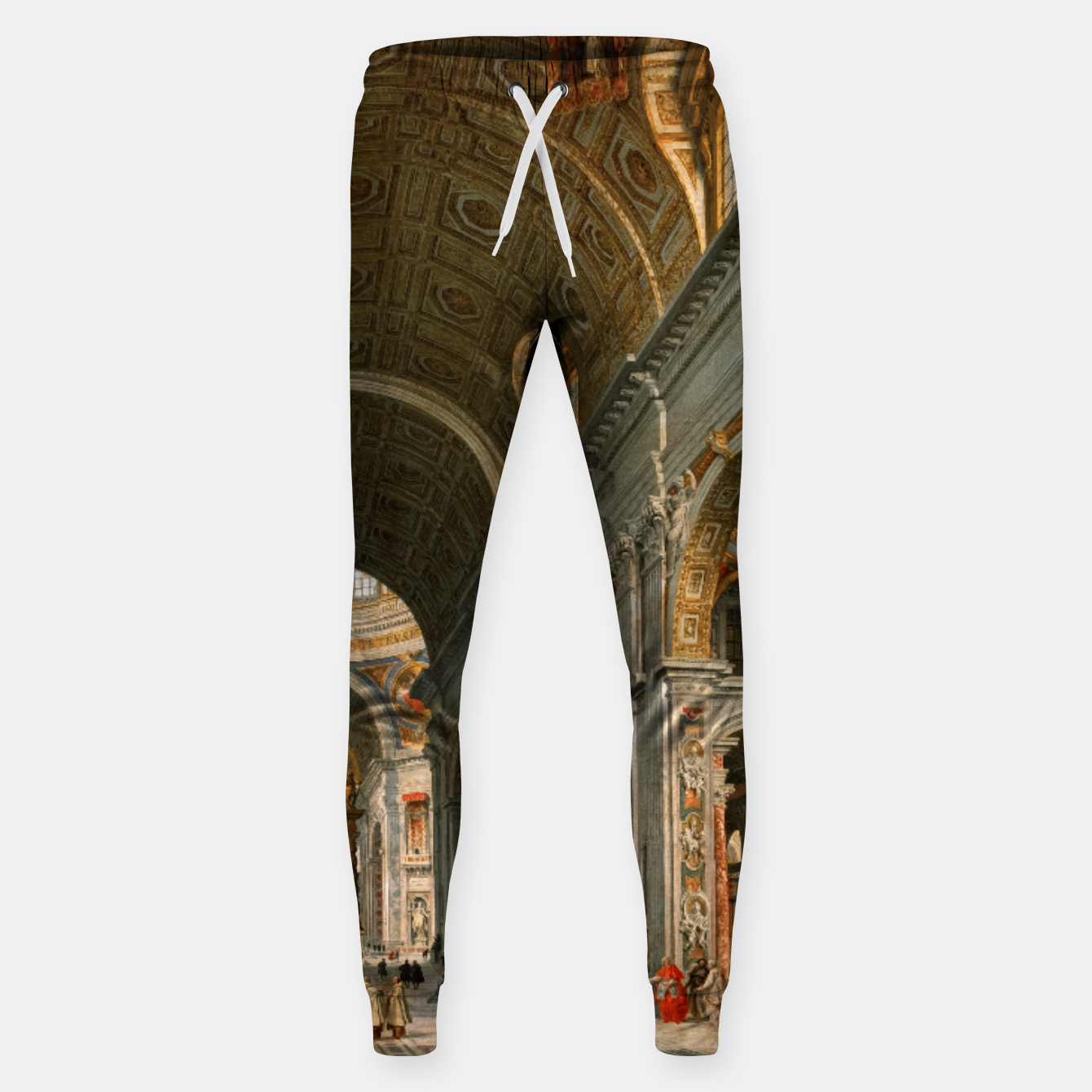 Image of Interior of St. Peter's, Rome by	Giovanni Paolo Panini Sweatpants - Live Heroes