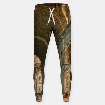 Interior of St. Peter's, Rome by	Giovanni Paolo Panini Sweatpants thumbnail image
