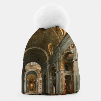 Miniaturka Interior of St. Peter's, Rome by	Giovanni Paolo Panini Beanie, Live Heroes