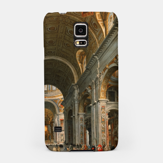 Interior of St. Peter's, Rome by	Giovanni Paolo Panini Samsung Case thumbnail image