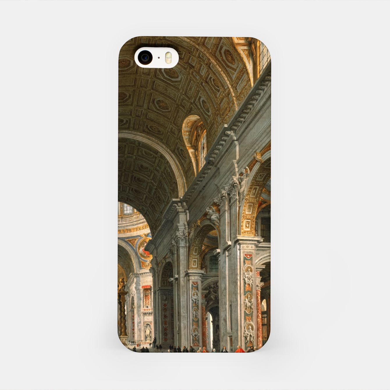 Image of Interior of St. Peter's, Rome byGiovanni Paolo Panini iPhone Case - Live Heroes