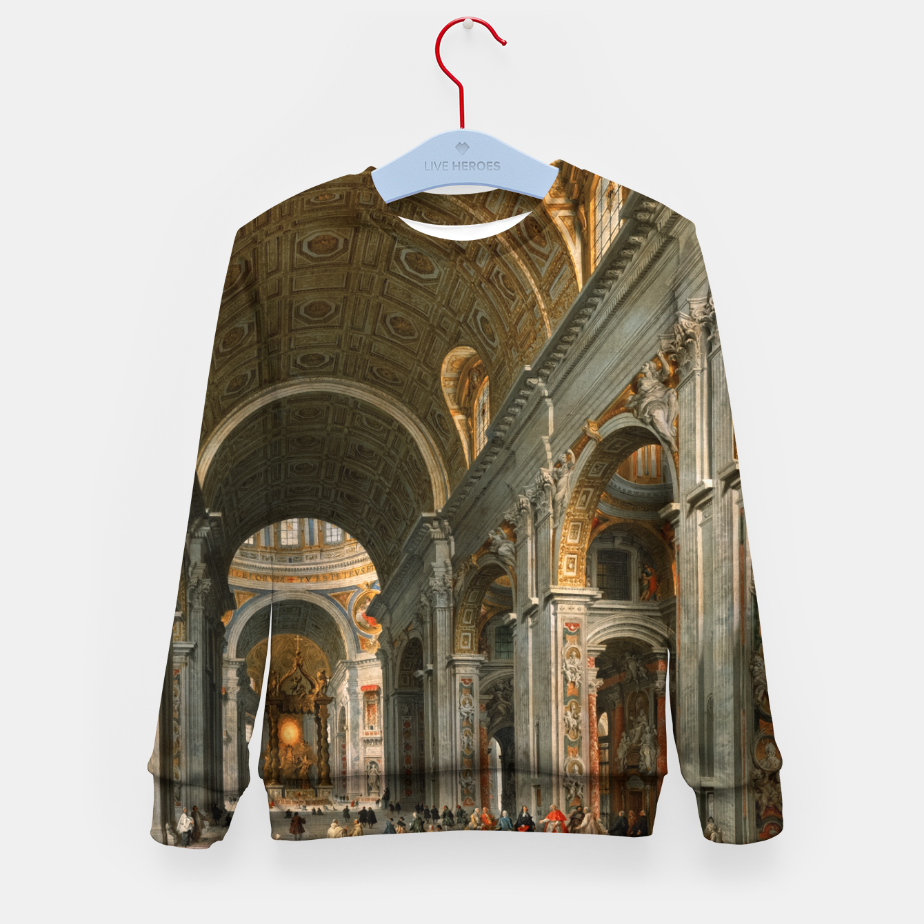 Image of Interior of St. Peter's, Rome byGiovanni Paolo Panini Kid's sweater - Live Heroes