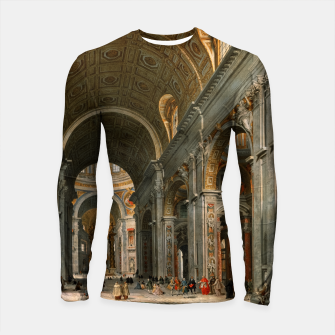 Thumbnail image of Interior of St. Peter's, Rome by	Giovanni Paolo Panini Longsleeve rashguard , Live Heroes