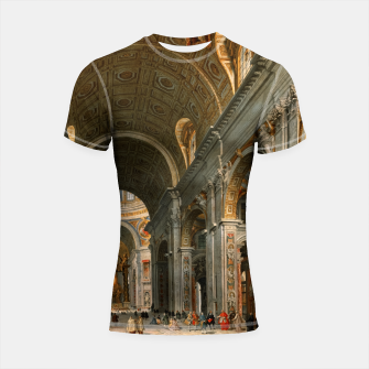 Thumbnail image of Interior of St. Peter's, Rome by	Giovanni Paolo Panini Shortsleeve rashguard, Live Heroes