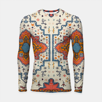 Miniatur Heritage Floral Moroccan Traditional Style  Longsleeve rashguard , Live Heroes