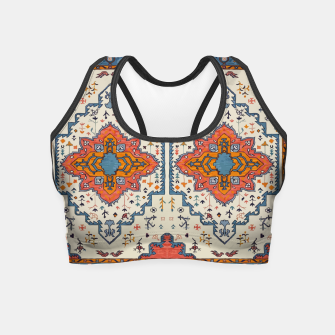 Miniatur Heritage Floral Moroccan Traditional Style  Crop Top, Live Heroes