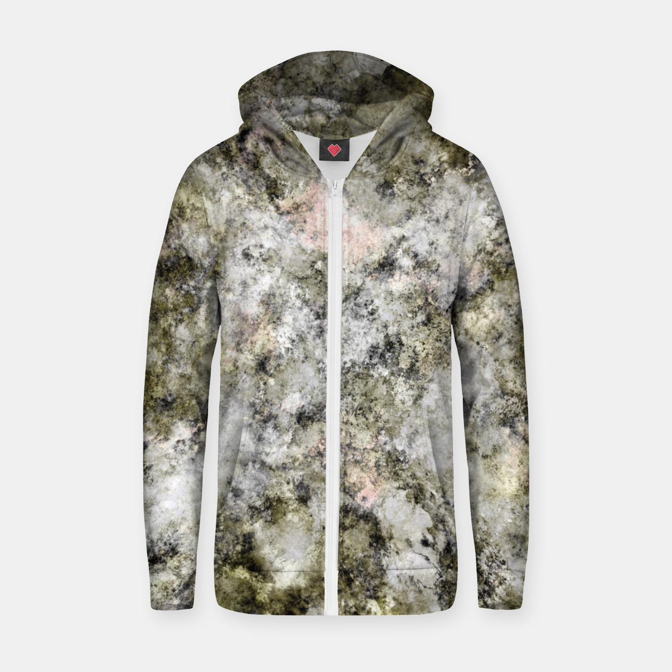 Image of Turning to stone Zip up hoodie - Live Heroes