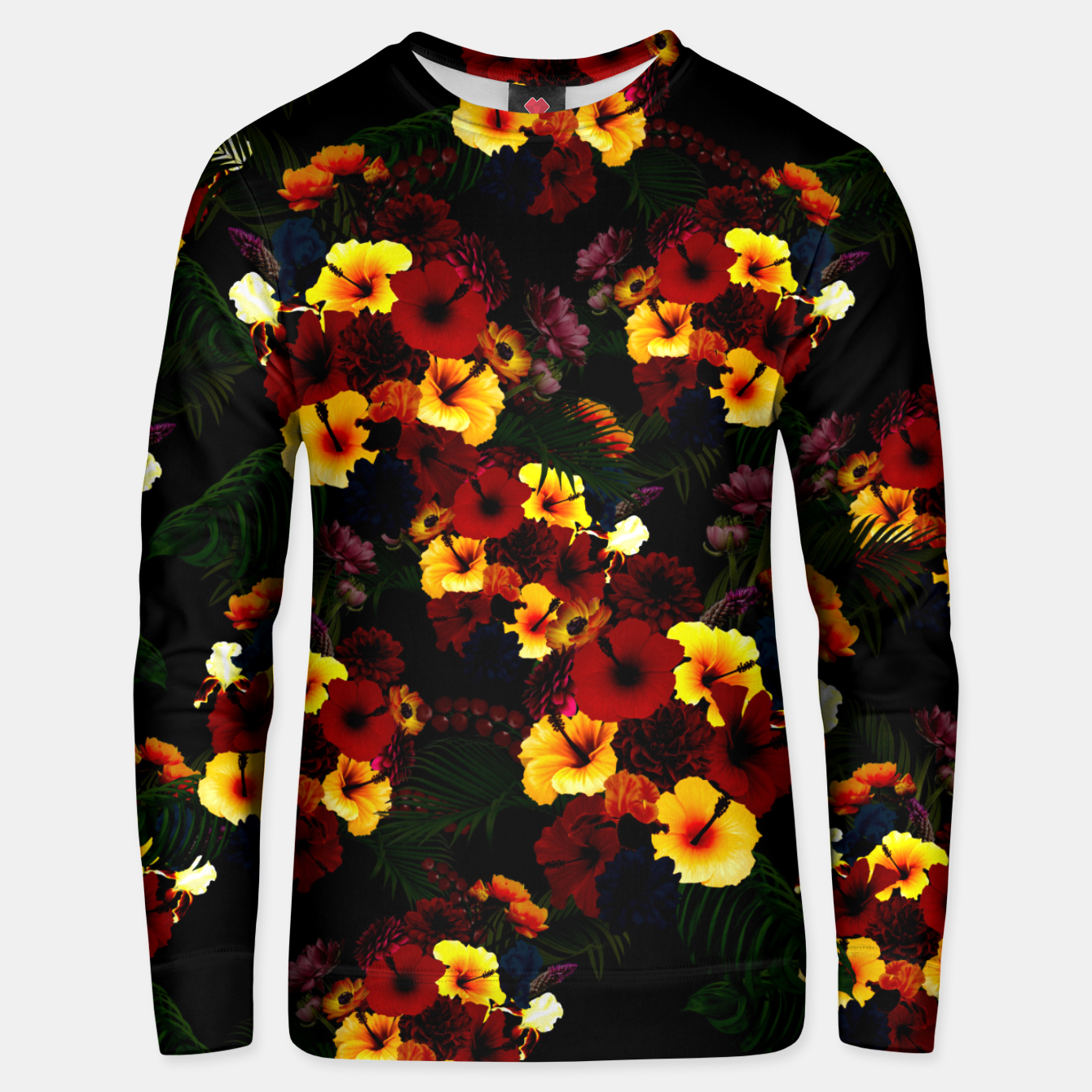 Image of Hibiscus Flower Black Unisex sweater - Live Heroes
