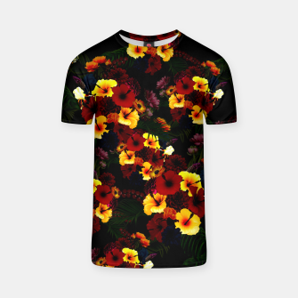 Hibiscus Flower Black T-shirt thumbnail image