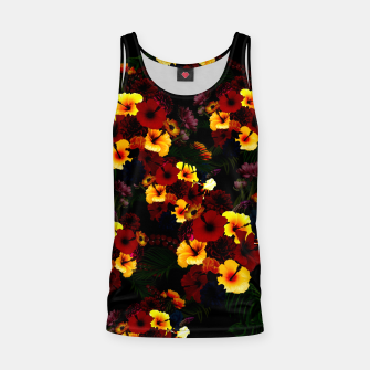 Thumbnail image of Hibiscus Flower Black Tank Top, Live Heroes