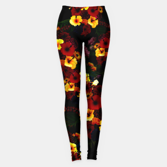 Miniature de image de Hibiscus Flower Black Leggings, Live Heroes