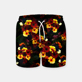 Hibiscus Flower Black Swim Shorts thumbnail image