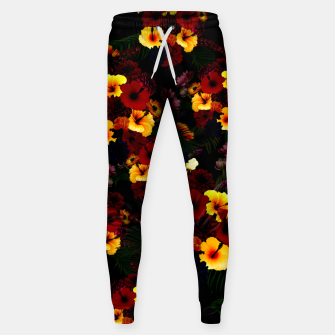 Hibiscus Flower Black Sweatpants thumbnail image