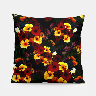 Miniature de image de Hibiscus Flower Black Pillow, Live Heroes