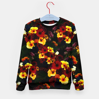 Miniature de image de Hibiscus Flower Black Kid's sweater, Live Heroes