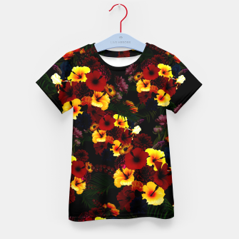 Hibiscus Flower Black Kid's t-shirt thumbnail image