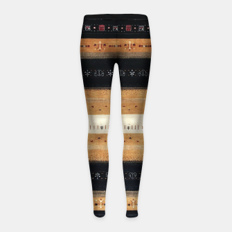 Thumbnail image of Traditional Moroccan Artwork Farmhouse Style Girl's leggings, Live Heroes