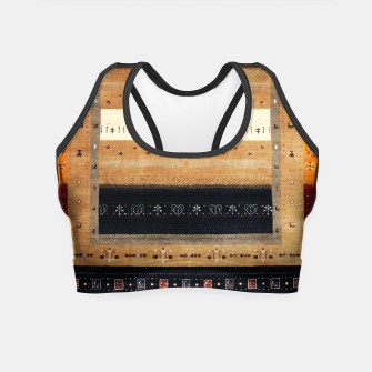 Thumbnail image of Traditional Moroccan Artwork Farmhouse Style Crop Top, Live Heroes