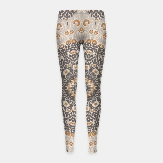Thumbnail image of Oriental Heritage Traditional Moroccan Floral Mandala  Girl's leggings, Live Heroes