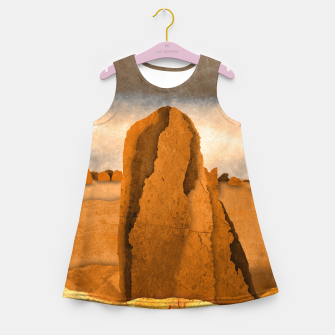 Miniatur One sand Girl's summer dress, Live Heroes