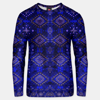 Thumbnail image of Indigo Calm Blue Heritage Traditional Moroccan Style  Unisex sweater, Live Heroes