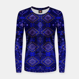 Thumbnail image of Indigo Calm Blue Heritage Traditional Moroccan Style  Women sweater, Live Heroes