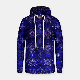 Thumbnail image of Indigo Calm Blue Heritage Traditional Moroccan Style  Hoodie, Live Heroes