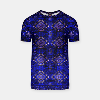 Thumbnail image of Indigo Calm Blue Heritage Traditional Moroccan Style  T-shirt, Live Heroes
