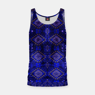 Thumbnail image of Indigo Calm Blue Heritage Traditional Moroccan Style  Tank Top, Live Heroes