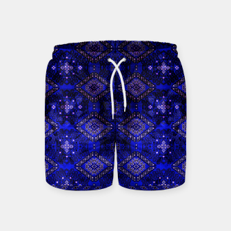 Thumbnail image of Indigo Calm Blue Heritage Traditional Moroccan Style  Swim Shorts, Live Heroes
