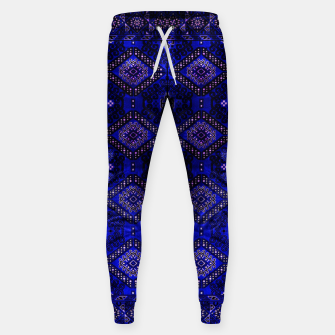 Thumbnail image of Indigo Calm Blue Heritage Traditional Moroccan Style  Sweatpants, Live Heroes