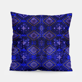 Thumbnail image of Indigo Calm Blue Heritage Traditional Moroccan Style  Pillow, Live Heroes