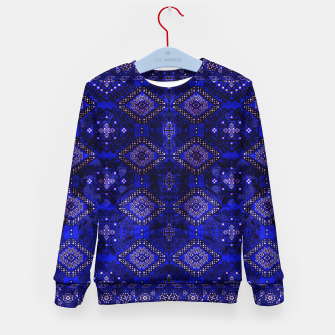 Thumbnail image of Indigo Calm Blue Heritage Traditional Moroccan Style  Kid's sweater, Live Heroes