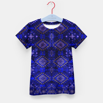 Thumbnail image of Indigo Calm Blue Heritage Traditional Moroccan Style  Kid's t-shirt, Live Heroes