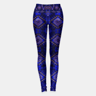 Thumbnail image of Indigo Calm Blue Heritage Traditional Moroccan Style  Leggings, Live Heroes