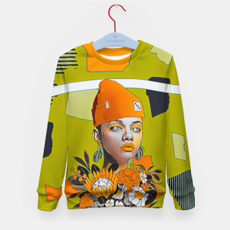 Thumbnail image of Lines and forms Kid's sweater, Live Heroes