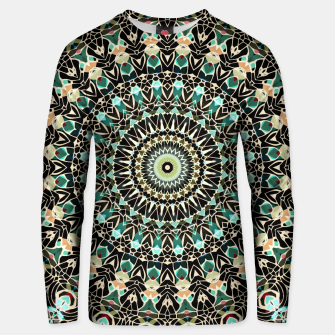 Gold Wire Mandala in Turquoise Unisex Sweater thumbnail image