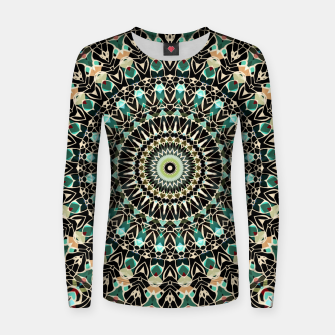 Gold Wire Mandala in Turquoise Women Sweater thumbnail image