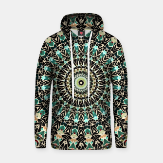 Thumbnail image of Gold Wire Mandala in Turquoise Hoodie, Live Heroes