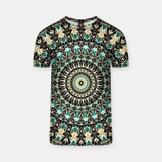 Gold Wire Mandala in Turquoise T-shirt thumbnail image