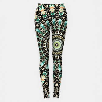 Gold Wire Mandala in Turquoise Leggings thumbnail image