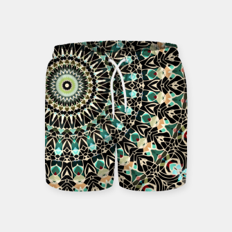 Gold Wire Mandala in Turquoise Swim Shorts thumbnail image
