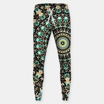 Gold Wire Mandala in Turquoise Sweatpants thumbnail image