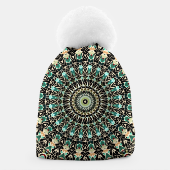 Thumbnail image of Gold Wire Mandala in Turquoise Beanie, Live Heroes