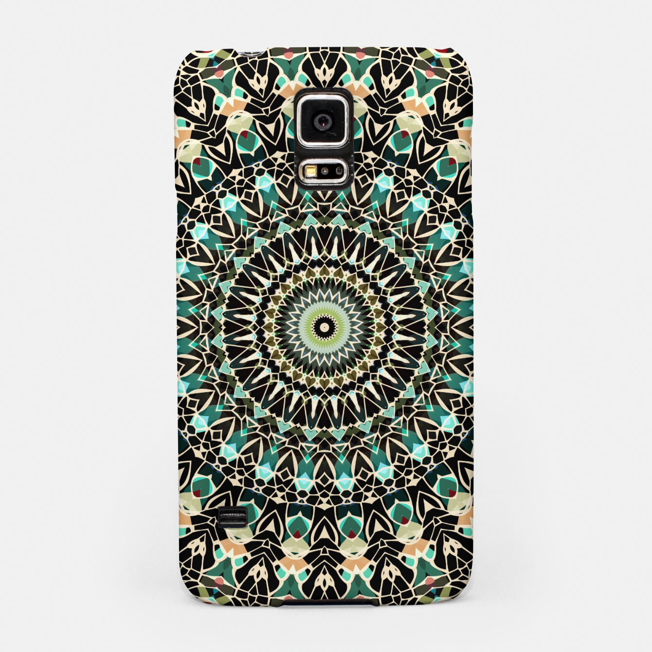 Image of Gold Wire Mandala in Turquoise Samsung Case - Live Heroes