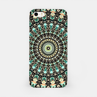 Gold Wire Mandala in Turquoise iPhone Case thumbnail image