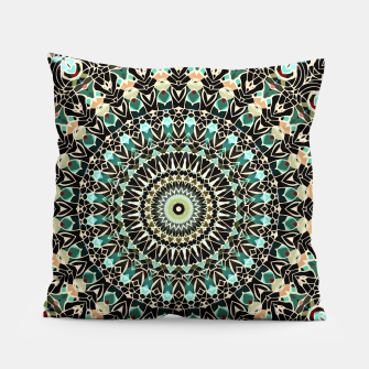 Miniature de image de Gold Wire Mandala in Turquoise Pillow, Live Heroes