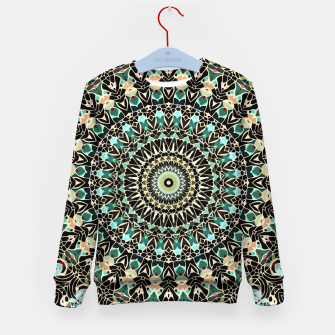 Miniatur Gold Wire Mandala in Turquoise Kid's Sweater, Live Heroes