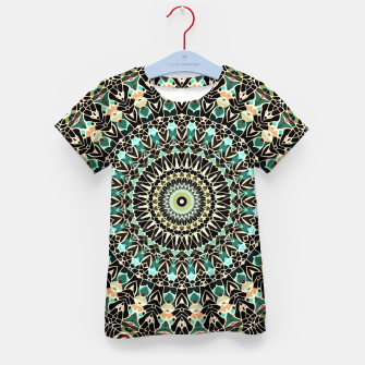 Gold Wire Mandala in Turquoise Kid's T-shirt thumbnail image